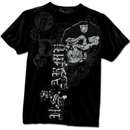 Black Ink T-Shirt US Army Skull & Beret, schwarz
