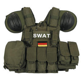 Swat Weste - Combat Weste MFH oliv