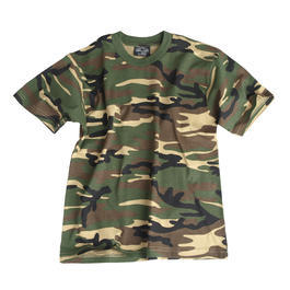 Kinder T-Shirt Tarnfarbe woodland