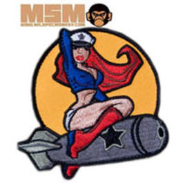 Mil-Spec Monkey Pin Up Girl Patch Farbig