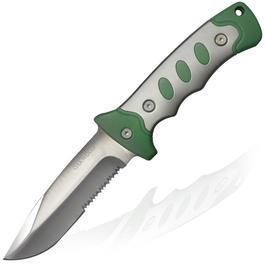 Ausrüstung - Oakwood Fahrtenmesser silber/grün mit Gürteltasche