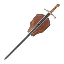 Schwert - Historisches Schwert Tempelritter mit Wandhalterung Dekomodell