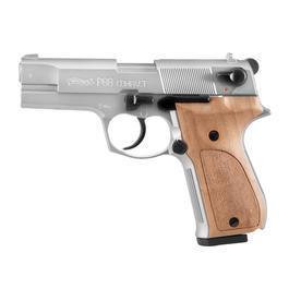 Signaleffekte - Walther P88 Schreckschuss Pistole 9mm P.A.K. vernickelt Holzgriffschalen