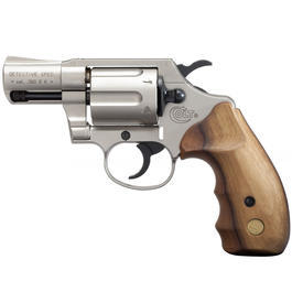 Signalwaffen - Colt Detective Special 9 mm Schreckschuss Revolver vernickelt Holzgriff