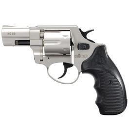 Signalwaffen - Röhm RG89 Schreckschuss Revolver Kal. 9 mm vernickelt Combatt-Griffschalen