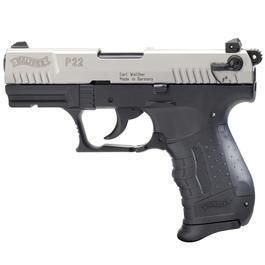 Walther P22 - Walther P22 Schreckschuss Pistole 9mm P.A.K. vernickelter Schlitten bicolor