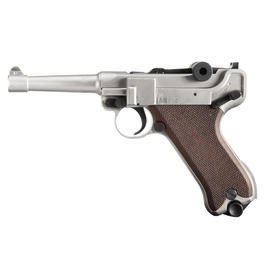 Signalwaffen - ME Modell P08 Schreckschuss Pistole vernickelt