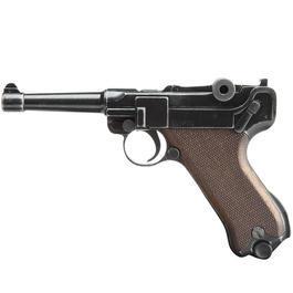 Schreckschußwaffen - Luger ME P08 Schreckschuss Pistole Antik-Finish 9mmP.A.K