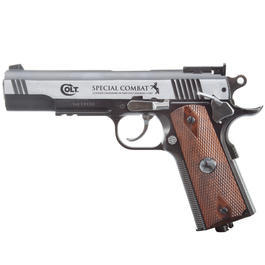 Colt Spezial Combat Classic Vollmetall CO2 Pistole 4,5 mm BB Dark Ops Finish