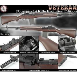 Softair Gun - G&G M14 Veteran Vollmetall mit Echtholzschaft S-AEG 6mm BB