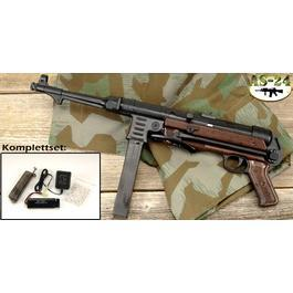 MP40 Softair Bakelit Optik Komplettset