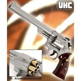 UHC M-29 8 Zoll Gas Softair Revolver 6mm BB nickel mit H�lsen