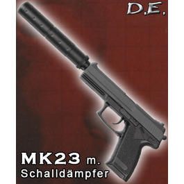 D.E. MK23 Softair mit Schalld�mpfer Spring