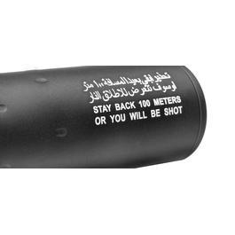 G&P Special Forces 100M Aluminium Silencer schwarz 14mm- / 14mm+