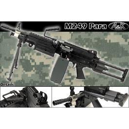 Softair ab 14 - A&K M249 Para Vollmetall AEG