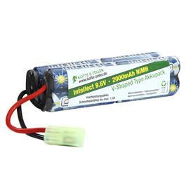 Intellect Akku 9.6V 2000mAh V-Shaped Type