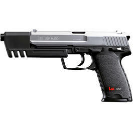 Softair-Waffen - H&K USP Match Springer bicolor Federdruck