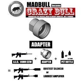 MadBull Crazy Bull Noise Maker Adapter 14mm-