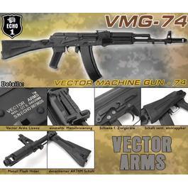 Softair ab 18 - Echo1 Vector Arms VMG-74 Vollmetall Komplettset S-AEG
