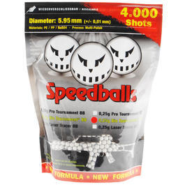 100% Speedballs Bio Tournament BBs 0,25g 4.000er Beutel