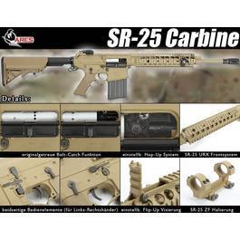 Softair AEG - Ares SR-25 Carbine S-AEG Tan