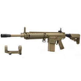 Ares SR-25 Carbine Vollmetall S-AEG 6mm BB Tan