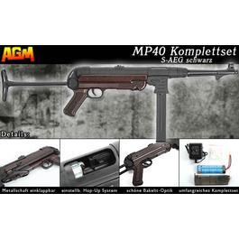 AGM MP40 Vollmetall Komplettset S-AEG Bakelit-Optik