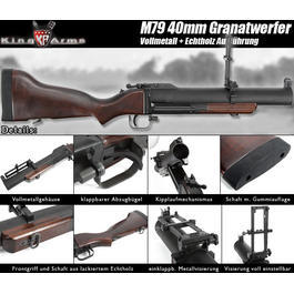 King Arms M79 40mm Granatwerfer Vollmetall