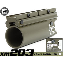 Paintball-Shop - MadBull XM203 40mm Granatwerfer kurz oliv