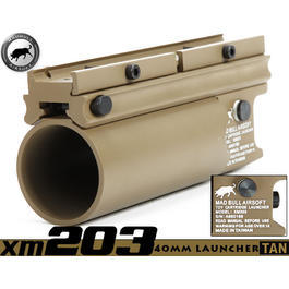 Paintball-Shop - MadBull XM203 40mm Granatwerfer kurz TAN