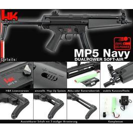 Heckler & Koch MP5A3 Navy Dualpower Komplettset AEG / Springer