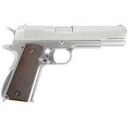Wei-ETech M1911 Vollmetall GBB 6mm BB Chrome-Finish Edition