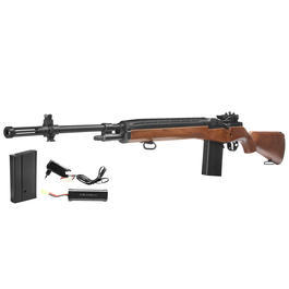 Echo1 M14 Rifle Vollmetall Komplettset S-AEG 6mm BB Wood-Type