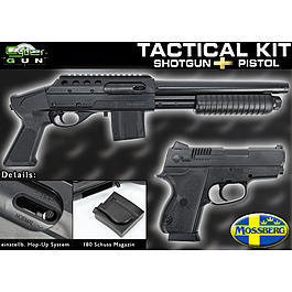 Cybergun Mossberg Tactical Shotgun + Pistole Kit Springer