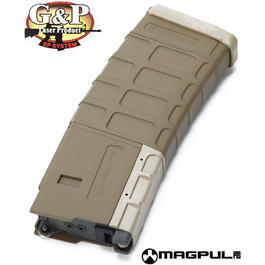 G&P MagPul PMAG M4 GBB Magazin 39 Schuss f. Western Arms M4 Serie sand
