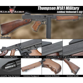 King Arms Thompson M1A1 Military Echtholz S-AEG