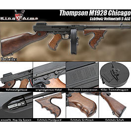 King Arms Thompson M1928 Chicago Echtholz S-AEG