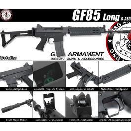 Classic Army Softair - G&G GF85 Long-Type Vollmetall S-AEG 6mm BB schwarz