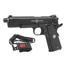 BB Gun - Socom Gear Viking Tactics Pro. Training 1911 Vollmetall GBB Softair inkl. HSS Lanyard