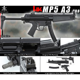 VFC Heckler & Koch MP5 A3 Gas-Blow-Back
