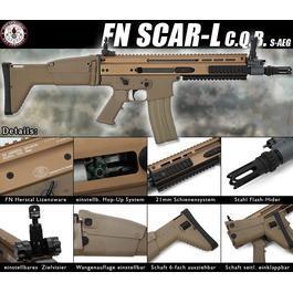 Softair Gewehre - G&G FN SCAR-L CQB S-AEG desert