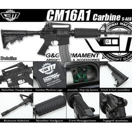 Softair AEG - Combat Machine CM16A1 Carbine S-AEG 6mm BB schwarz