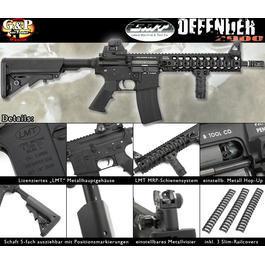 Softair ab 18 - G&P LMT Defender 2000 Vollmetall S-AEG 6mm BB schwarz
