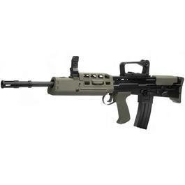 Softair Gewehr - Wei-ETech L85 A2 Vollmetall AWSS Open-Bolt Gas-Blow-Back 6mm BB oliv / schwarz