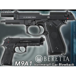 KWA Beretta US M9A1 Softair Vollmetall GBB 6mm BB