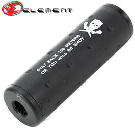 Element Aluminium Stubby Silencer 110mm f. 14mm Gewinde