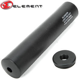 Element Aluminium LW Silencer 200mm f. 14mm- Gewinde