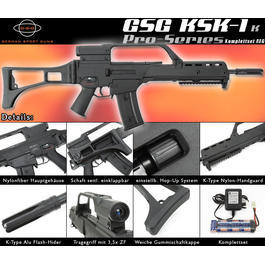 Softair AEG - GSG KSK-1 K Pro Series Softair Komplettset AEG