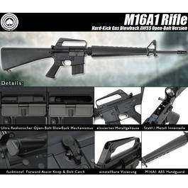 Socom Gear M16A1 Vollmetall AWSS Open-Bolt Gas-Blow-Back 6mm BB