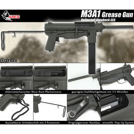 Ares M3A1 Grease Gun Vollmetall Blowback Ver. 2 AEG